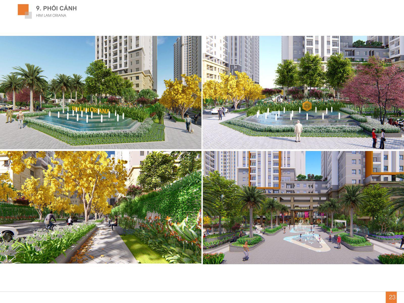 Công viên và quảng trường trung tâm